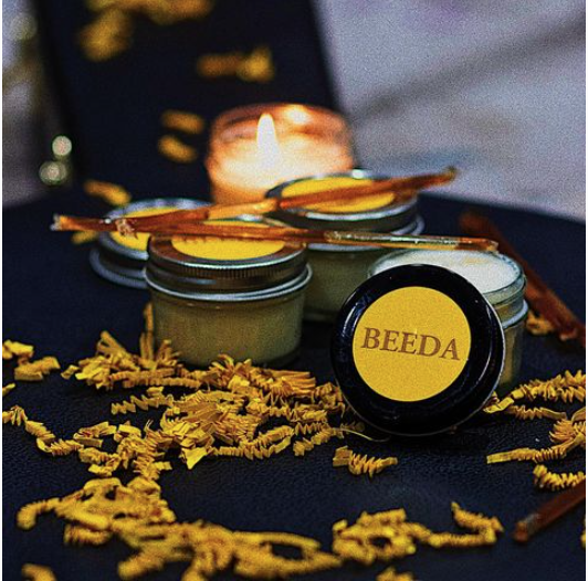 Beeda honey and candles, handmade and harvested in Los Angeles, California.