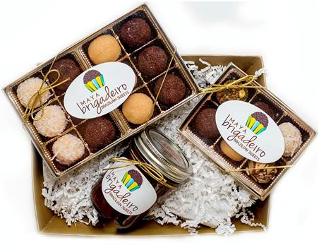 Handmade Brazilian sweets from Maya's Brigaderio.
