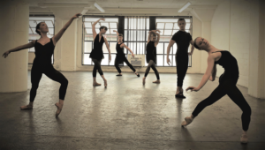 Dancers from @ladance_moves company posed in various ballet positions.