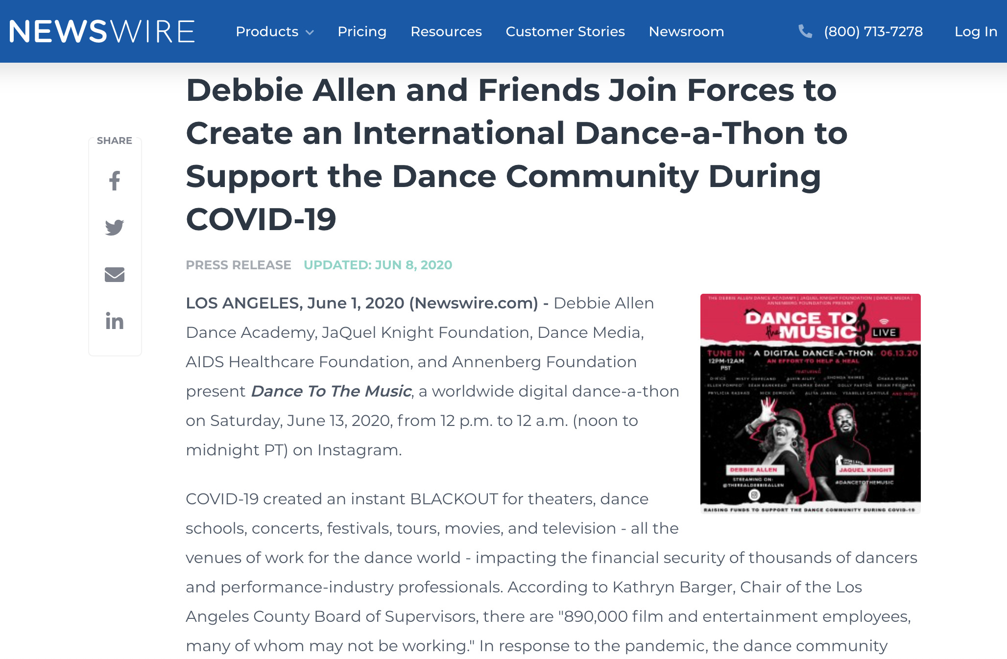 Debbie Allen and friends join forces to create an International Dance-a-Thon to support the dance community during COVID-19