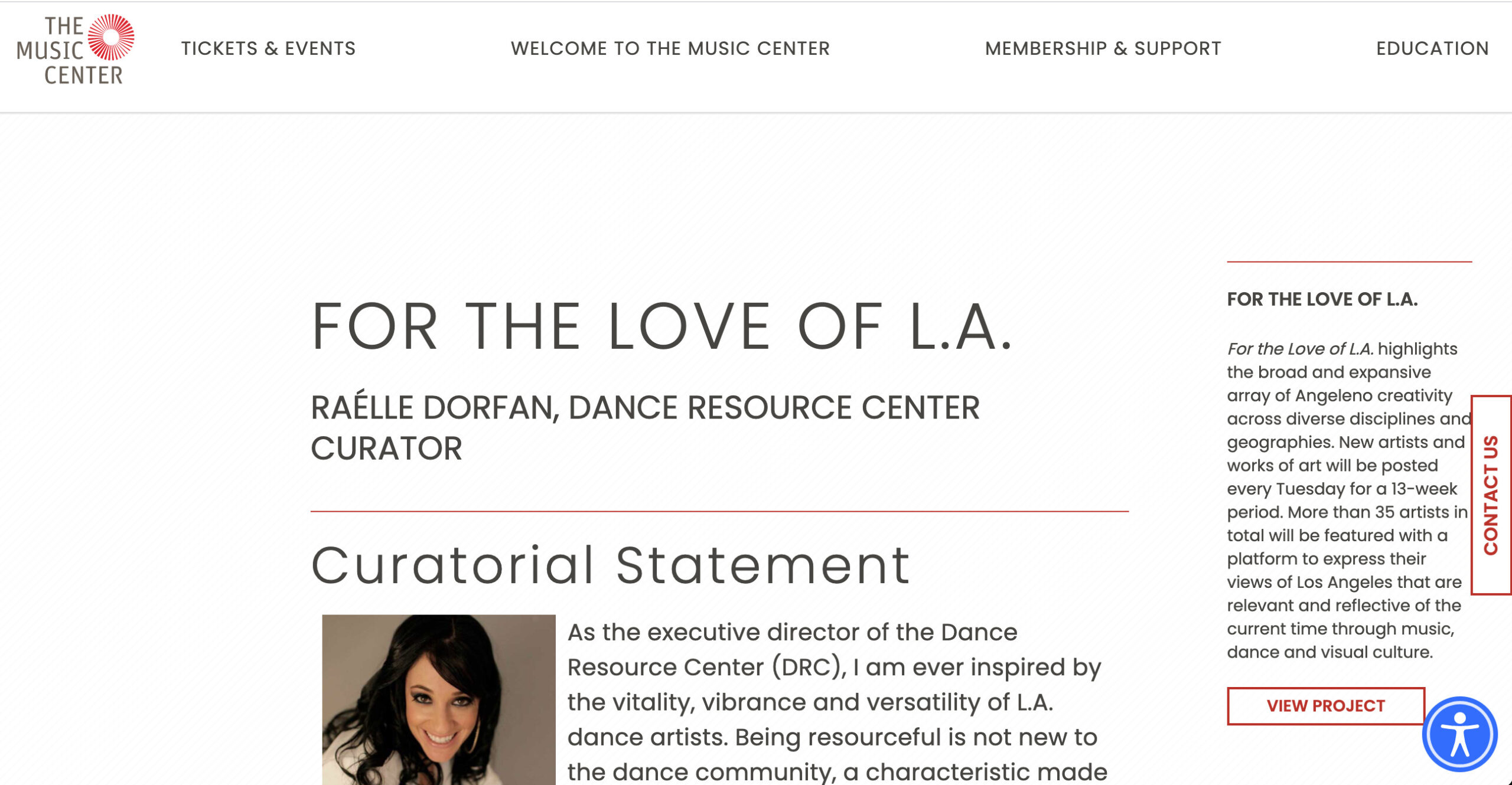 For the Love of LA collaboration with the Music Center and the Dance Resource Center.